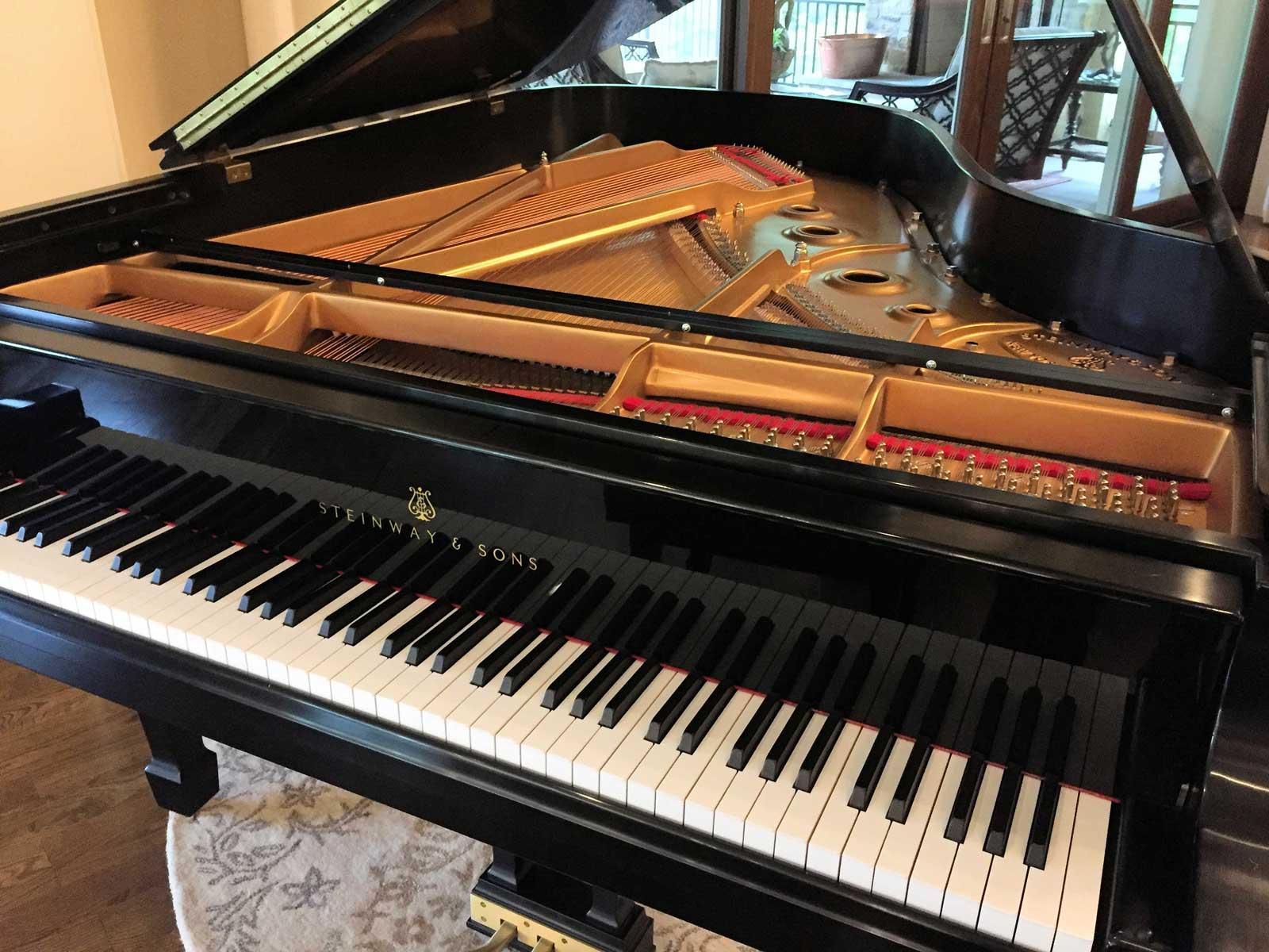 Grand Piano Mute Rail Installed